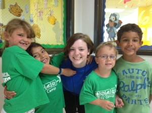Heather poses with day campers