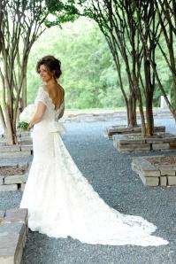 Dominque in her wedding gown