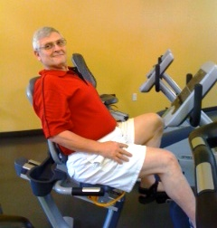 Weyman Dunaway works out at the S. Montgomery County YMCA