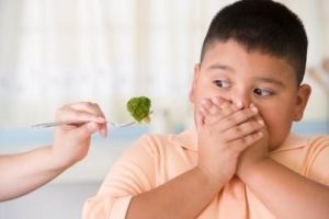 Child refuses to eat his broccoli