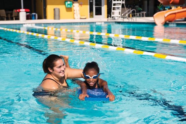Sam swim lesson
